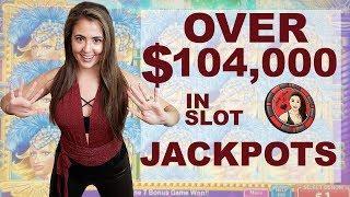 $104,000 in Slot Machine Jackpots - Handpays EVERYWHERE | Casino Madness