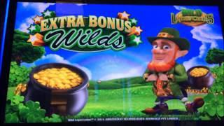 LUCKY LEPRECOINS by Aristocrat ~~ Live Slot Play @ San Manuel Casino