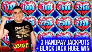 3 HANDPAY JACKPOTS On High Limit Slots & Huge Profit On BLACK JACK ! Winning Mega Bucks At Casino
