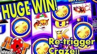 ** HUGE WIN ** WONDER 4 JACKPOT | SUPER FREE RE-TRIGGER CRAZE!! | SlotTraveler