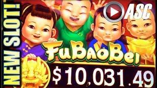 •G2E 2017 AGS NEW SLOTS PREVIEW!• FU BAO BEI & MONEY CHARGE JACKPOTS Slot Machine Bonus
