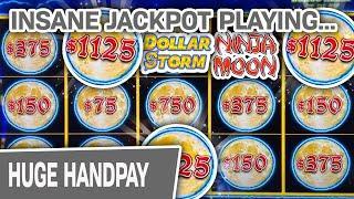 ⋆ Slots ⋆ Ninja Moon INSANE Handpay Jackpot ⋆ Slots ⋆ $75 Per Spin = BIG Dollar Storm Win at Choctaw