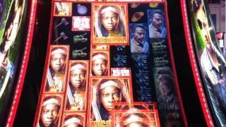 NEW Walking Dead Slot! DEMO - Michonne Re-Spin!