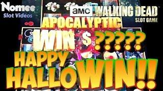 The Walking Dead Slot Game - Min Bet - HUGE WIN!! - Long Play