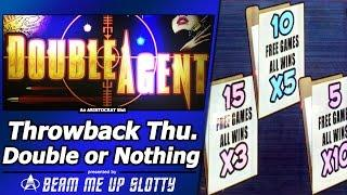 Double Agent Slot - TBT Double or Nothing, Live Play and Free Spins Bonus