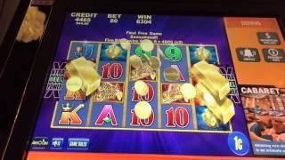 Aristocrat Stack of Gold Slot Machine Big Win Last Bonus Spin