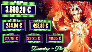 DANCING in RIO & LIGHTNING LINK - Good Wins - WMS & Aristocrat Slot Machine