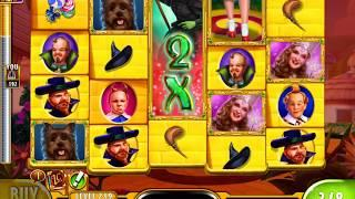 """WIZARD OF OZ: YELLOW BRICK ROAD Video Slot Game with a """"BIG WIN"""" FREE SPIN BONUS"""