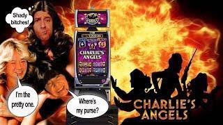 CHARLIE'S ANGELS SLOT MACHINE-BONUSES! IGT