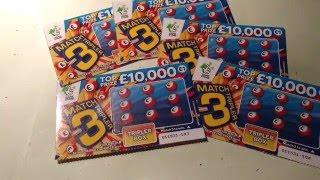 Scratchcard...Match 3 Tripler Scratchcards...with Moaning Piggy