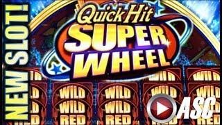 •NEW SLOT!• QUICK HIT SUPER WHEEL (WILD RED) Slot Machine Bonus (SG | BALLY)