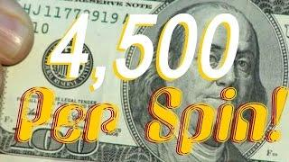 •$4,500 Grand Per Spin, BONUS TRIGGERED! Elite High Roller Video Slot Machine Jackpot Handpay • SiX