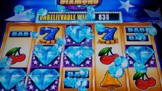 Diamond Storm Slot Machine Bonus - 10 Free Games with Diamond Respin - Nice Win