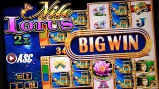 NILE LOTUS | WMS - SUPER BIG WIN!! 20 Spins Double Money Burst Slot Machine Bonus