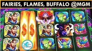 WHO WORE IT BETTER? THE HORNED FAIRY OR THE HORNED BUFFALO? MGM SPRINGFIELD SLOT MACHINE WINS!