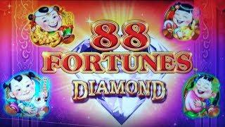 NON-STOP BONUSES on NEW 88 FORTUNES DIAMOND SLOT MACHINE POKIE - PECHANGA CASINO