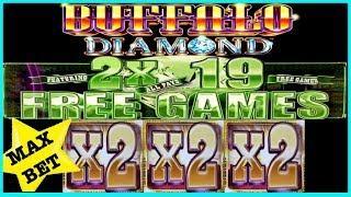 MAX BET • BETTER THAN A HANDPAY JACKPOT • MASSIVE RUN ON BUFFALO DIAMOND •
