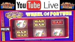 TONS of FUN! High Limit WHEEL of FORTUNE + LIGHTNING LINK Bonus DANCING DRUMS Sizzling Slot Jackpots