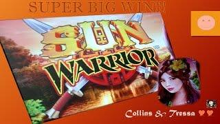 •SUPER BIG WIN• WMS •Sun Warrior • Slot Machine Bonus(50c)