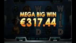 Jurassic Park Slot - T-Rex Feature - Mega Big Win (278x Bet)