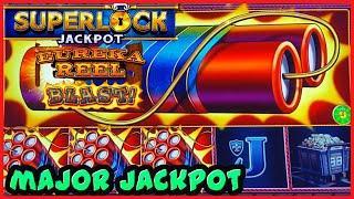 ★ Slots ★SUPERLOCK Lock It Link Eureka Reel Blast MAJOR JACKPOT HANDPAY ★ Slots ★HIGH LIMIT $24 BONU
