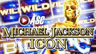 NEW! MICHAEL JACKSON ICON (SG) BLACK OR WHITE | LIVE PLAY Slot Machine Bonus