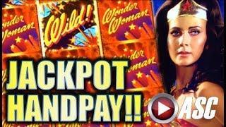 •JACKPOT HANDPAY!• WONDER WOMAN WILD! $5.00 MAX BET! Slot Machine Bonus (Bally)