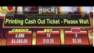 TURNED $1000 INTO ALMOST $5000! AMAZING RUN ON EAGLE BUCKS SLOT MACHINE!