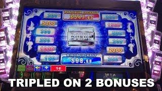 Platinum Jackpot Live Play max bet with 2 bonuses and TRIPLED my investment slot machine