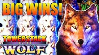 ‼️ HUNGRY LIKE THE WOLF ‼️ Big Wins Live Play on Wolf TowerStack Slot Machine
