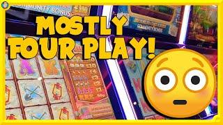 Playing FOUR Slots at ONCE! 4 player community slots, can I get the free spins?
