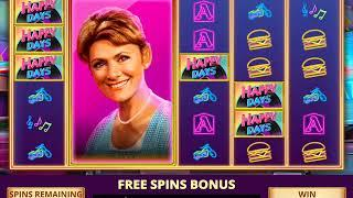 HAPPY DAYS Video Slot Casino Game with a HAPPY DAYS FREE SPIN BONUS