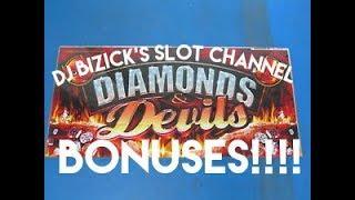 ~** MULTIPLE BONUSES **~ Diamonds & Devils Deluxe Slot Machine ~ THROWBACK! • DJ BIZICK'S SLOT CHANN