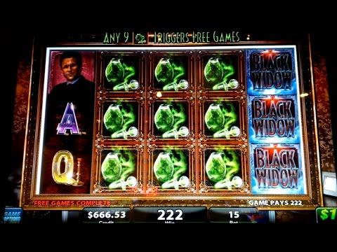 Black Widow Slot Machine - $15 High Limit Bet - No Big Win!