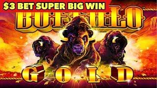 •️SUPER BIG WIN•️ $3 BET BUFFALO GOLD | BUFFALO DELUXE BONUS SLOT
