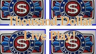 One Thousand Dollars- LIVE PLAY-$25 Top Dollar Slot Machine