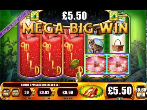 £475 ON WIZARD OF OZ - RUBY SLIPPERS™ MEGA BIG WIN (792 X STAKE) - SLOTS AT JACKPOT PARTY