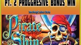 WMS ~ Pirate Ship Slot Machine Bonus Session Pt. 2