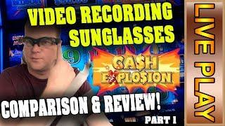 Video Recording Sunglasses in ACTION! - Review & Comparison - Live Casino Play Carmen & Indian Moon