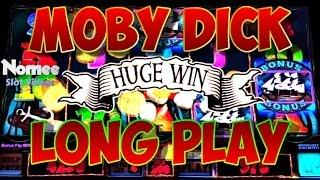 Moby Dick Slot Machine - Bonuses and Big Win - Long Play - Chasing Free Spins!