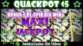 Quackpot Slot Bonus and Re-spin Feature Big Win - Ainsworth