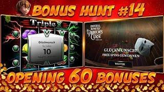 BONUS HUNT #14 - OPENING 60 SLOT BONUSES LIVE ON STREAM! - BIG WINS?