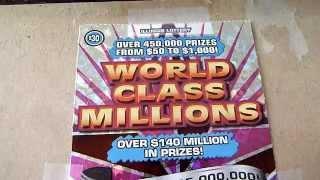 $30 Illinois Lottery Ticket - World Class Millions