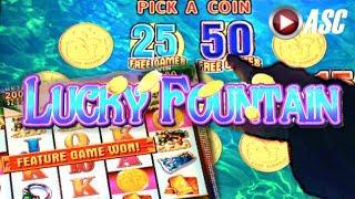 LUCKY FOUNTAIN   Konami 100+ Spins! BIG Win! Slot Machine Bonus