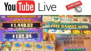 • LIVE PLAY! 1st LIVE STREAM Slot Machine BIG WINS - BONUSES & Mini JACKPOT - PART 2