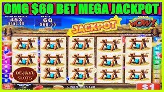 OMG WIFE'S GONE CRAZY BETTING $60! MEGA JACKPOT HANDPAY HIGH LIMIT SLOT MACHINE