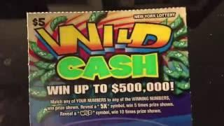 Wild Cash New York Lottery scratch off ticket for Kobo