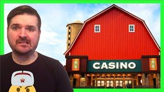A YOUTUBE FIRST!!! PLAYING SLOT MACHINES IN A BARN! BIG WINNING W/ SDGuy1234