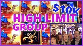 • 20 People • $500 Each =•10,000 HIGH LIMIT GROUP SLOT PULL• • Slot Machines w Brian C #ad