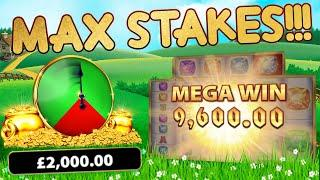 MAX Stake Rainbow Riches Bonuses!!!